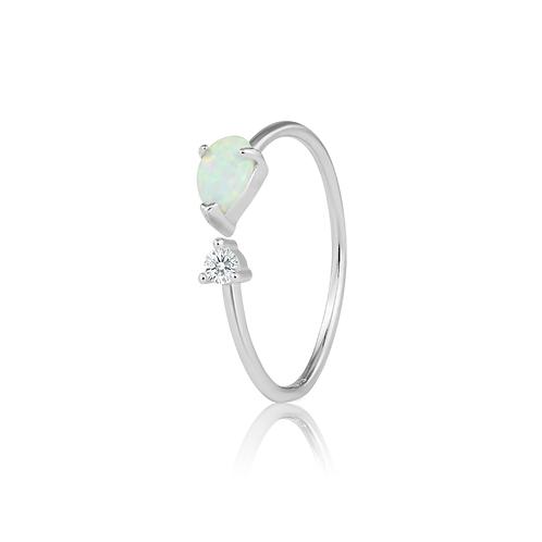 Ring - Opal Teardrop