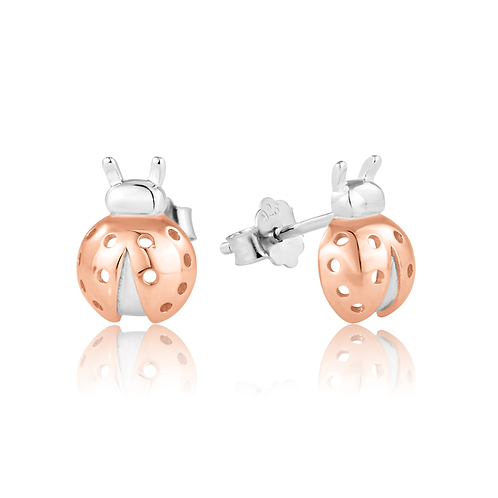 Earrings - Rose Ladybirds