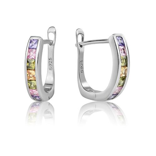 Earrings - Rainbow Hoops