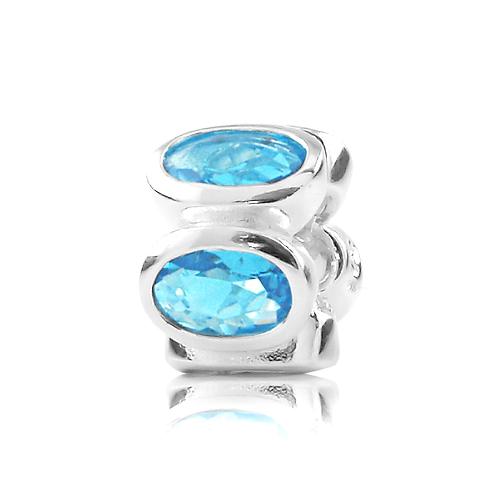 Oval - Aqua Blue