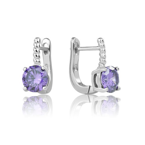 Earrings - Purple Stones