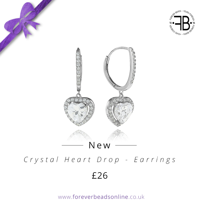 CrystalHeartDropEarrings