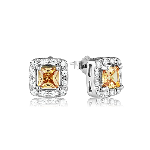 Earrings - Champagne Squares