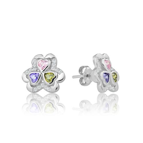 Earrings - Colourful Clover