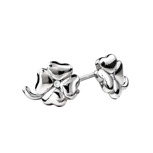 Earrings - Silver Clovers
