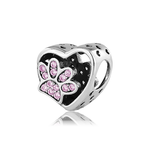 Paw Print Heart - Pink