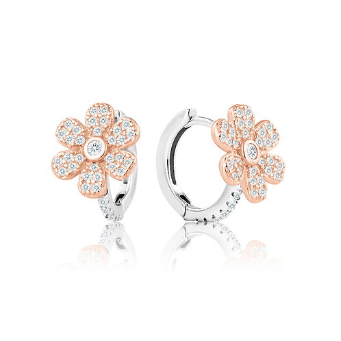 Earrings - Rose Daisies