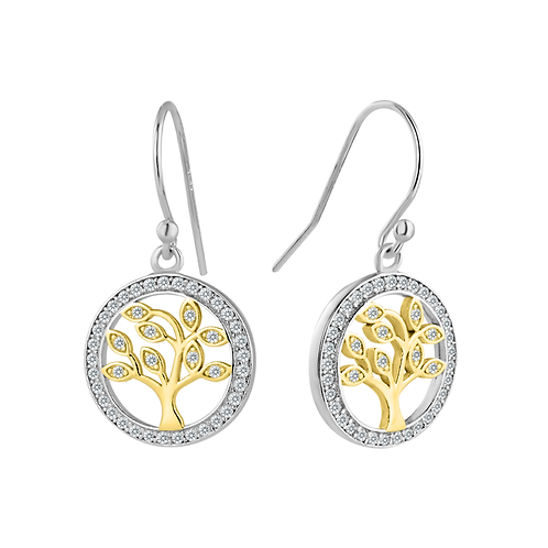 Earrings - Tree Of Life Gold