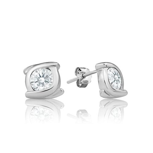 Earrings - Crystal Swirl
