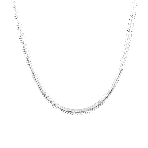 Thick Silver Necklace