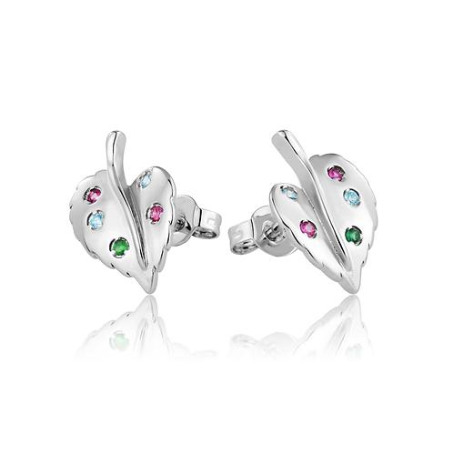 Earrings - Jewelled Leaves