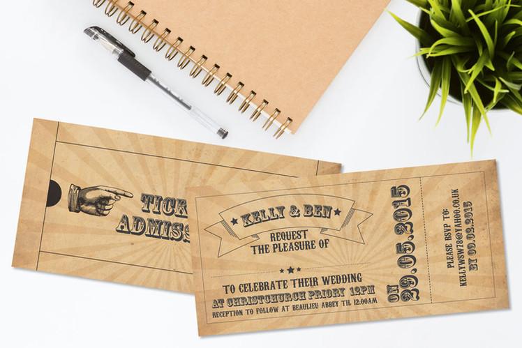 Circus Themed Wedding Invite
