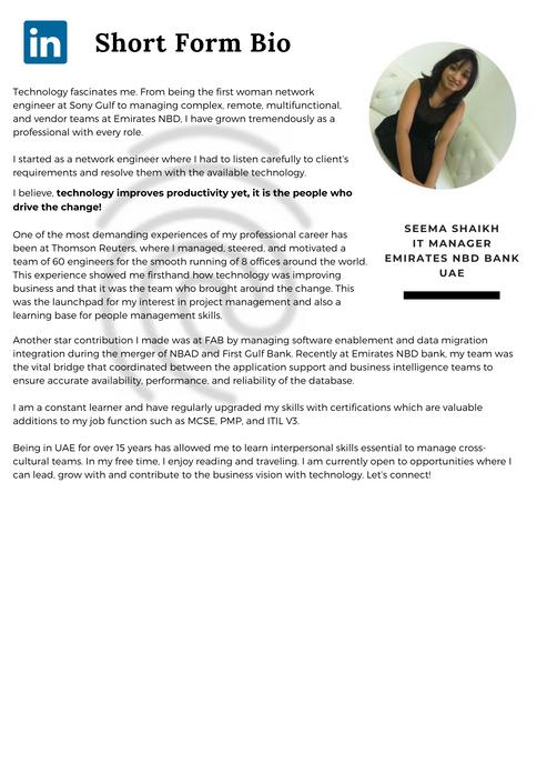 Placeholder for Seema Shaikh's short bio