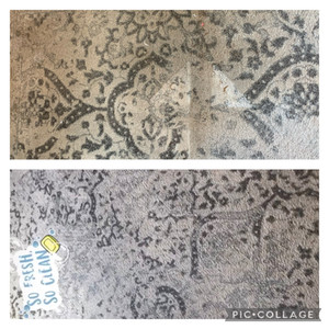 Area Rug Cleaning - Before and After
