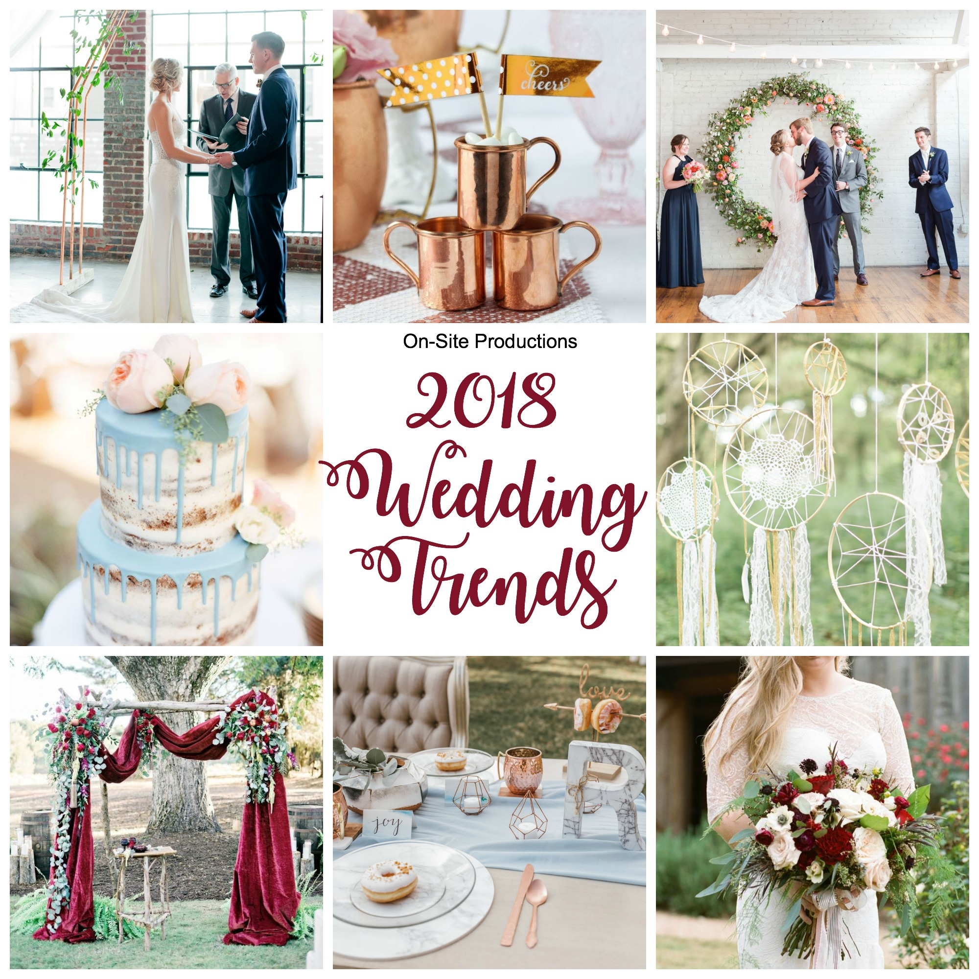 2018 Wedding Trends | Wedding DJ, Wedding Lights, Wedding Drapes ...