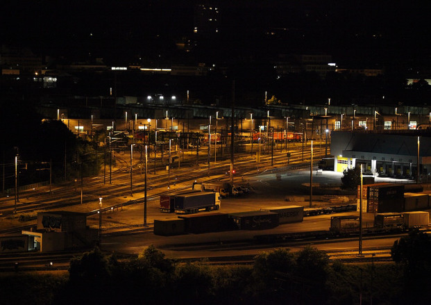 Goods station Wolf at night, 2018