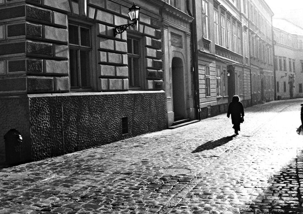 walking through an empty city on the first morning of a new century being as cold as yesterday