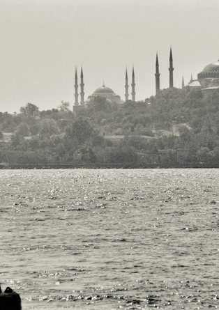 Hagia Sophia & Sultan Ahmed Mosque ('Blue Mosque') in the back