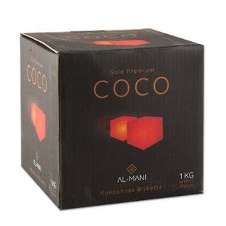 Al-Mani Wasserpfeifenkohle Premium Coco 1kg