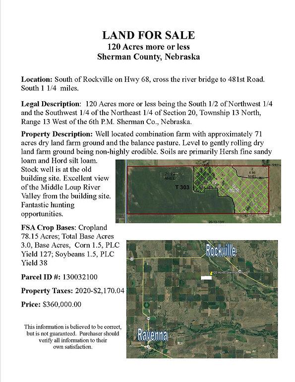 information sheet- 120 Acres diana thoma