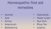 Homeopathy for first Aid. Aconite for shock and anxiety