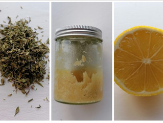 Home made lemon drink for colds, flue and coughs.