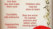 Hyperactive children,learning disabilities and tics.