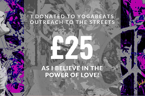 Yogabeats Outreach To The Streets Donation