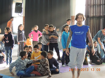 Youth class in Palestine