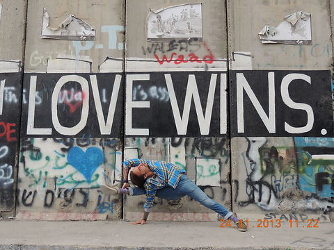 David Sye Palestine wall