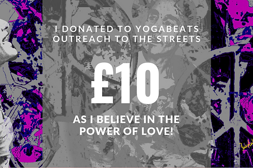 Yogabeats Outreach For The Streets Donation