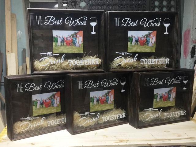 Копилка для винных пробок с UF-печатью
