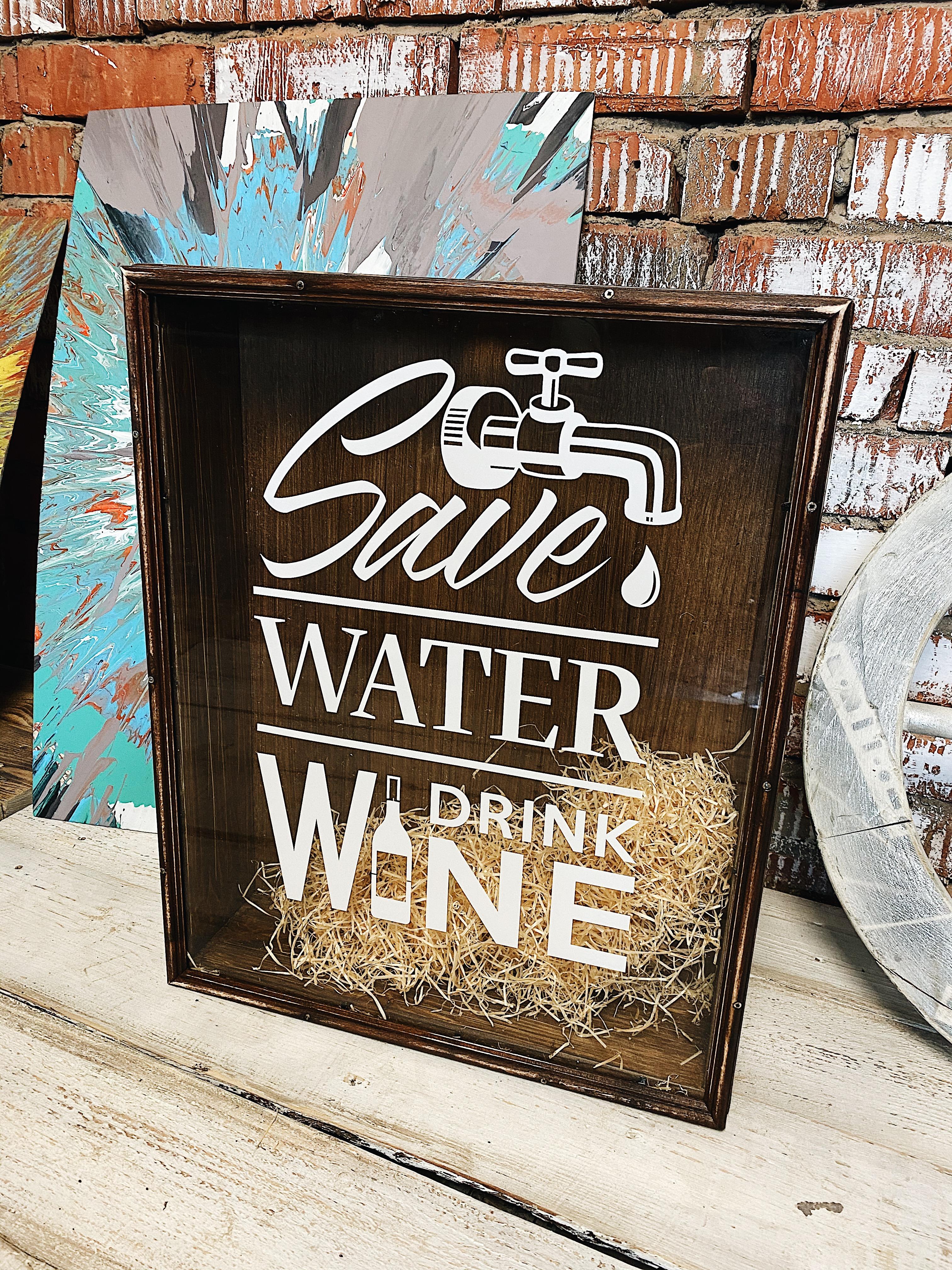 Копилка коричневая Save Water