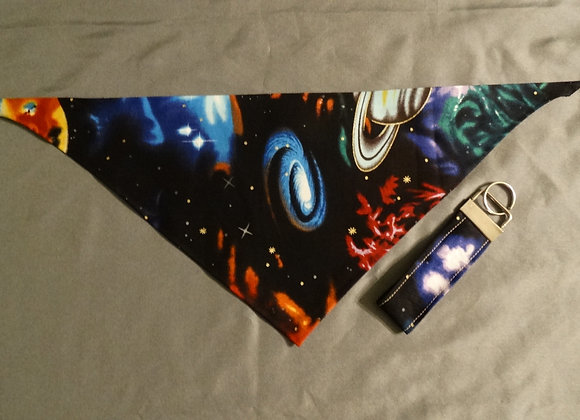 OUT OF THIS WORLD TIE BANDANA & KEYCHAIN SET