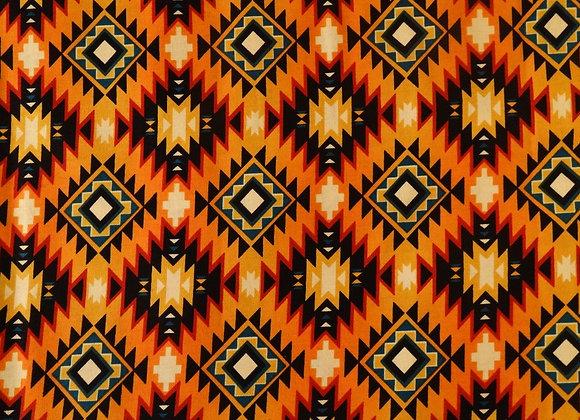 BURNT ORANGE  AZTEC FACEMASK