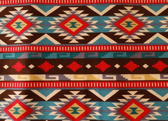 BROWN AZTEC FACEMASK
