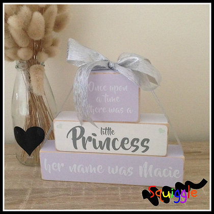 'Once Upon a time' personalised block set