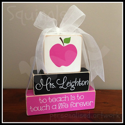 'To teach is to touch a life forever' Teacher Block sets