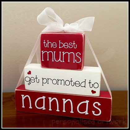 """Best Mums get promoted to"" Block sets"