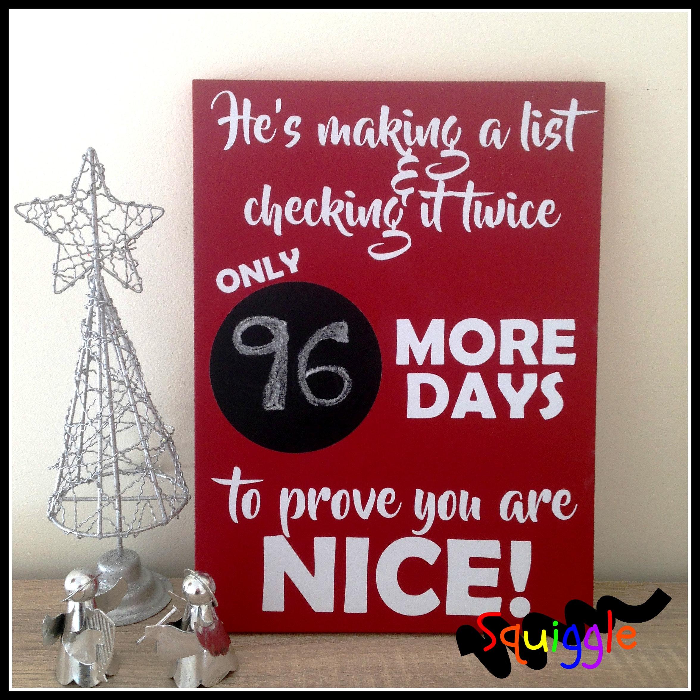 Countdown To Christmas Sign.Countdown To Christmas Sign