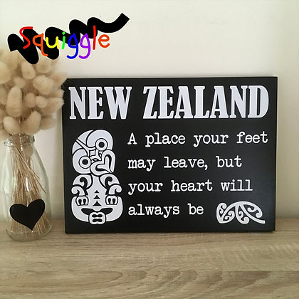 My heart is in New Zealand sign