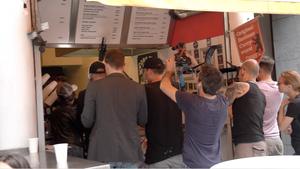 Filmdreh für die Doku-serie Die Pornomacher mit Lullu Gun und Wolf Wagner in Berlin Kteuzberg