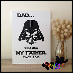 Starwars inspired signs for Dad