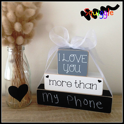 'I love you more than...' Block sets