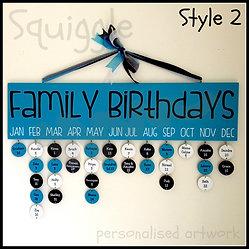 Family Birthday Calendars