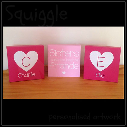 Personalised Canvas Sets for siblings