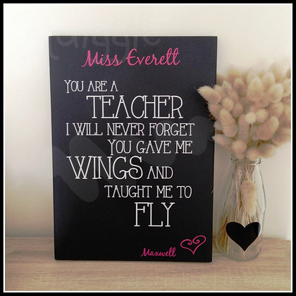 You gave me wings...sign for teachers