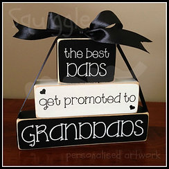 """""""Best Dads get promoted to"""" Block sets"""