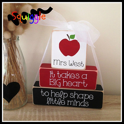 'It takes a big heart' Teacher Block sets