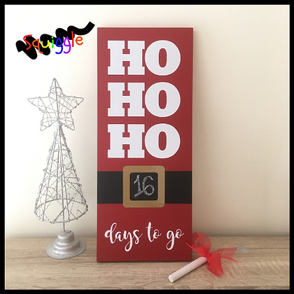Ho-Ho-Ho Countdown to Christmas sign
